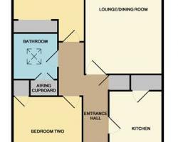 Flat Floor Plan 175/177 Hampton Lane Blackfield Southampton